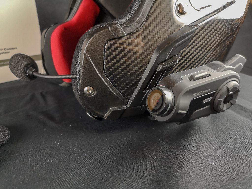 Micro perche fourni avec la caméra embarquée Sena 10C Pro
