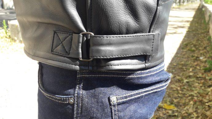 Serrage à velcro pour le blouson cuir DXR Craft