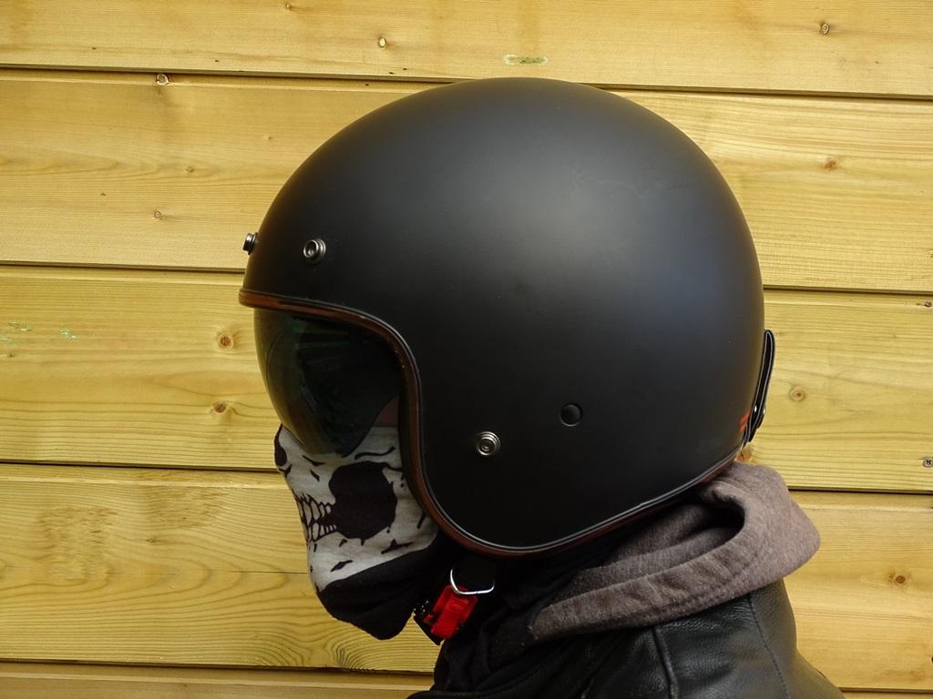 Vue de profil du casque jet Dexter Element