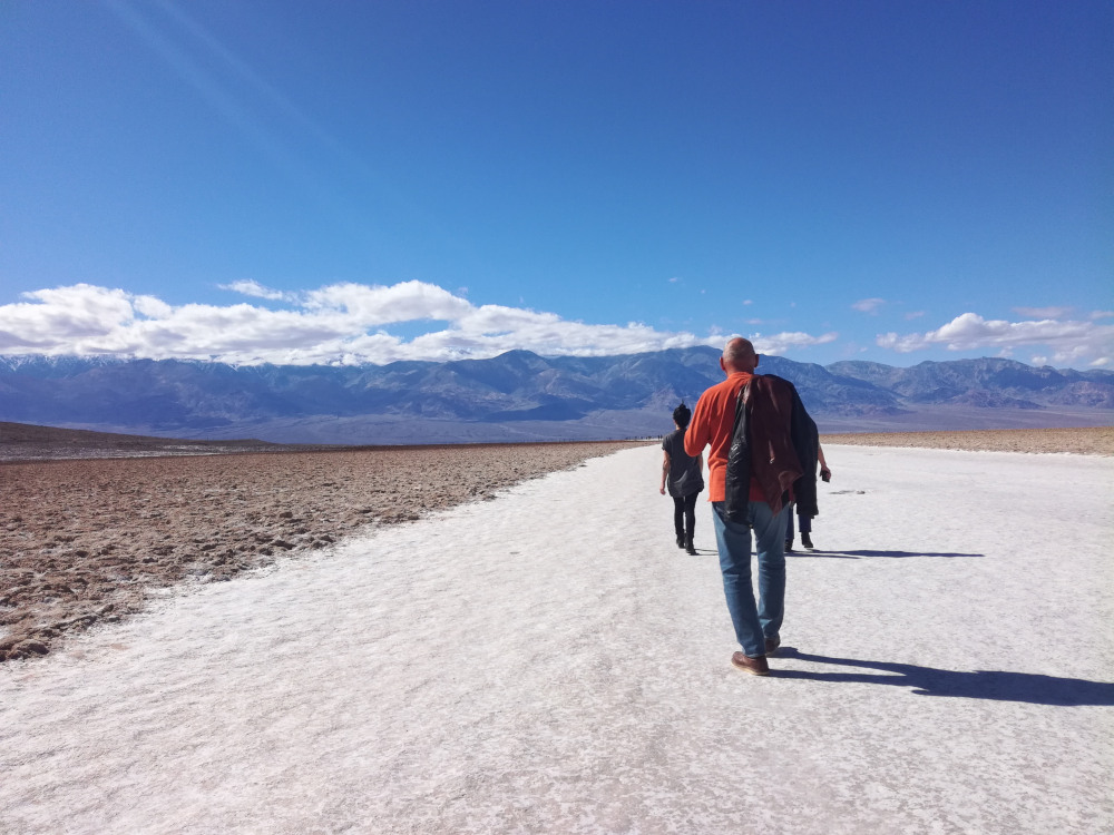 Badwater, au coeur de la Death Valley, sur One Month One Ride