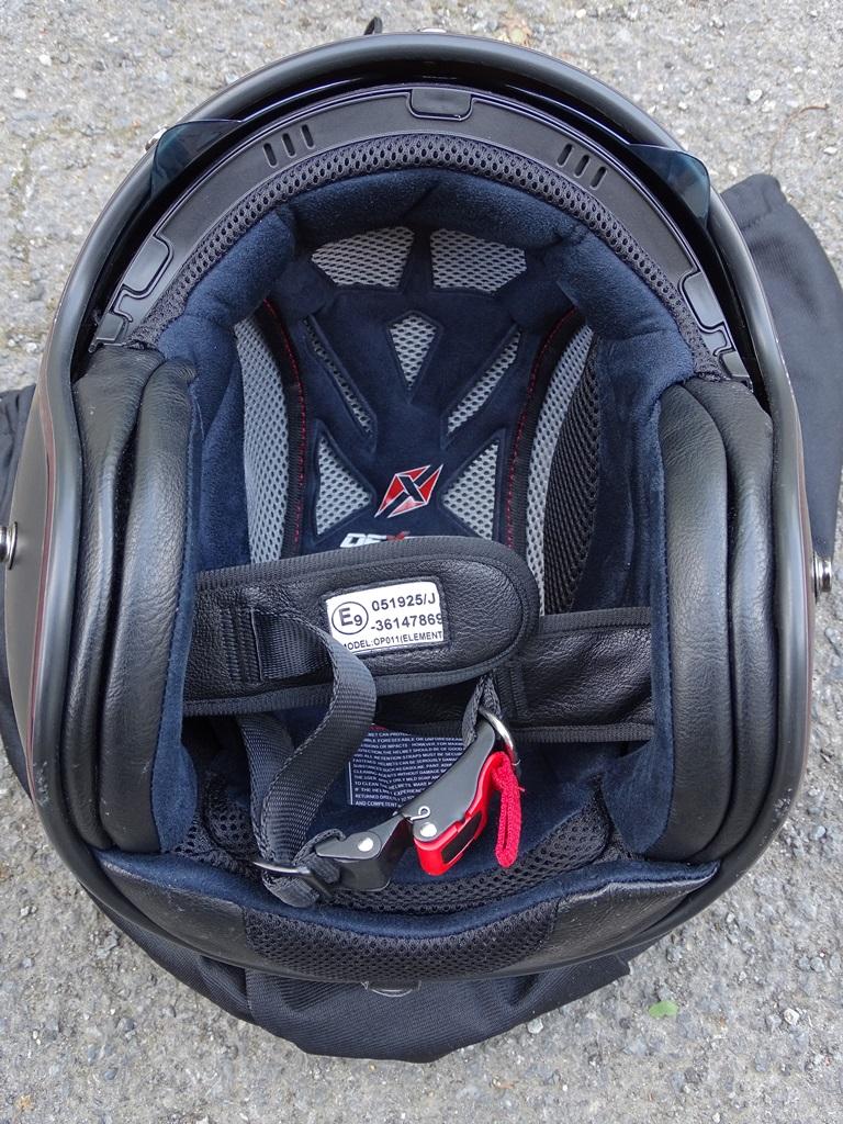 Intérieur démontable pour le casque jet Dexter Element