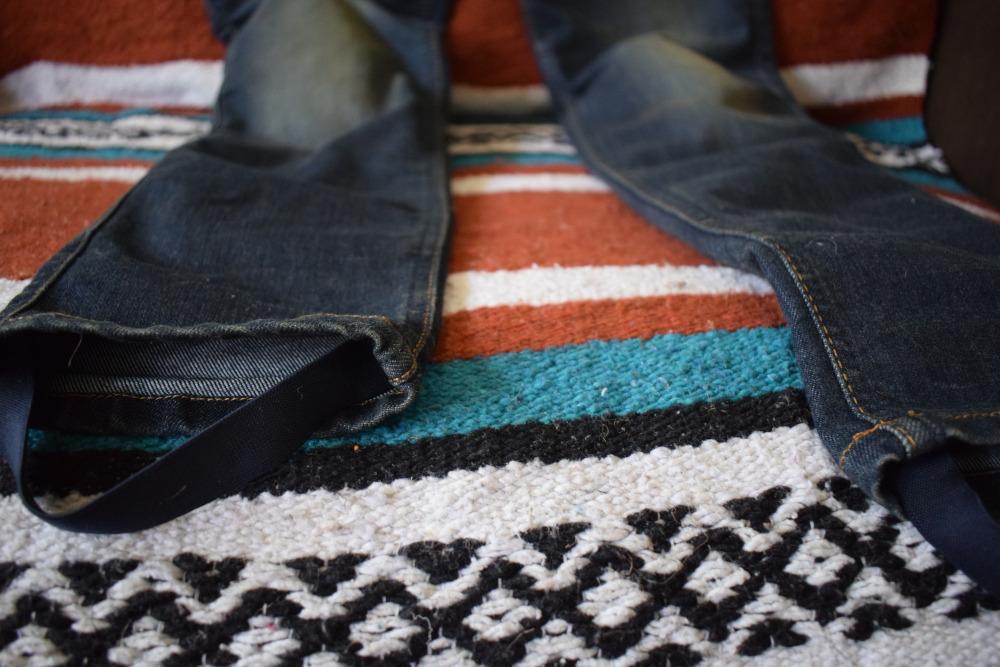 Elastique de maintien sur le jean Helstons Dena