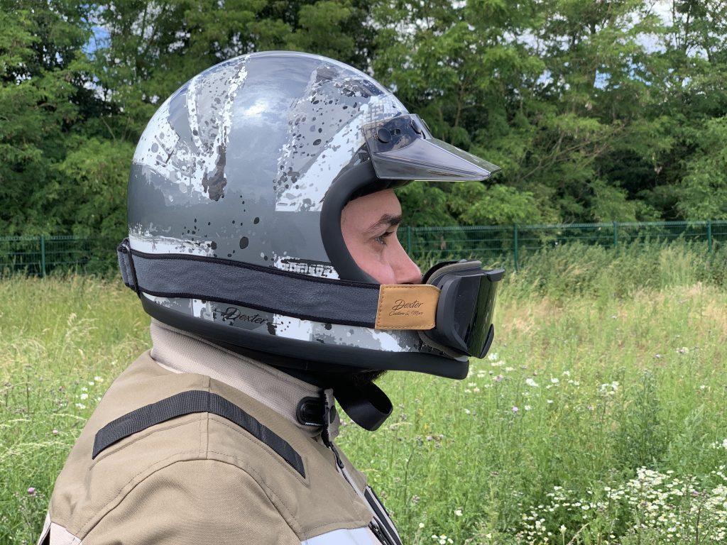 Vue de profil du casque Dexter Emmet Rosbif