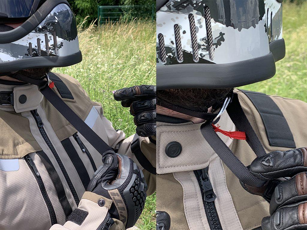 Sangle boucle double-D sur casque Dexter Emmet Rosbif