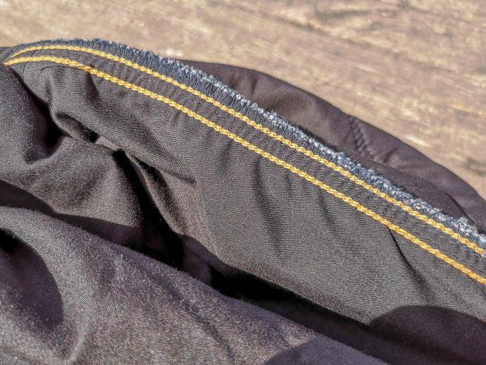 coutures et sécurité du pantalon DXR Howell