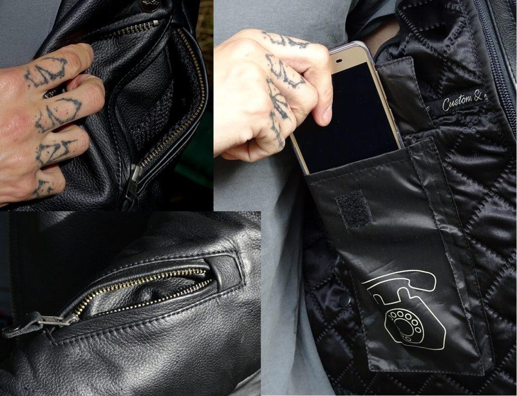 Petit aperçu des différents poches du DXR Vinz