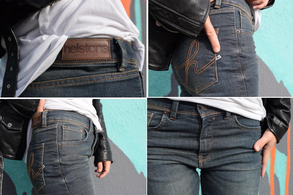Focus sur la finition du jean Helstons Dena