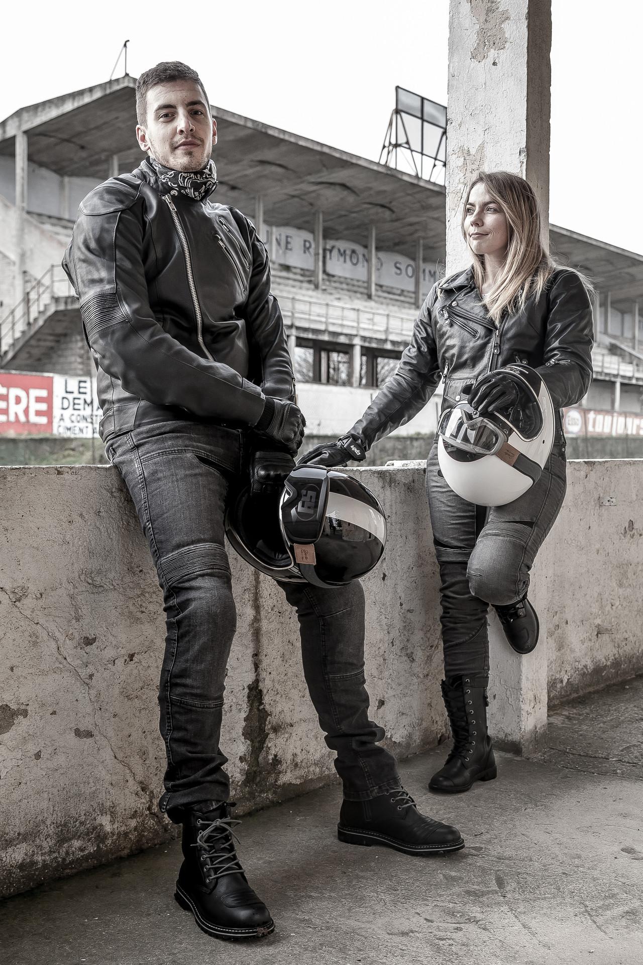 Les jeans moto DXR Boost et Diva Denim
