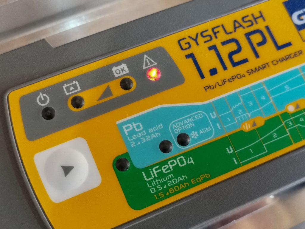 Chargeur GYS 1.12PL – sécurité