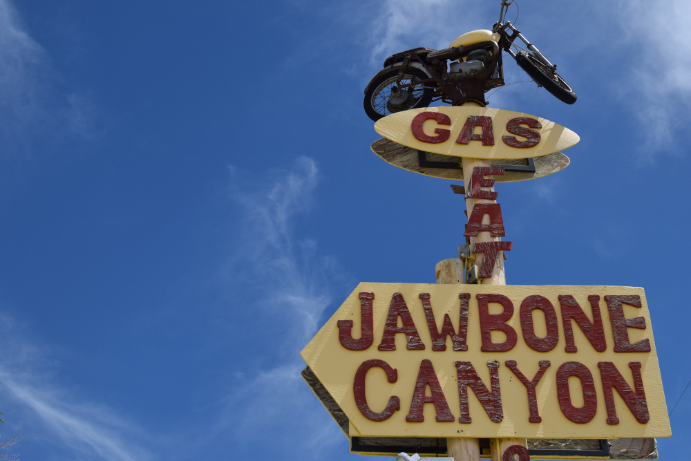 Jawbone canyon - road trip en Californie du Sud
