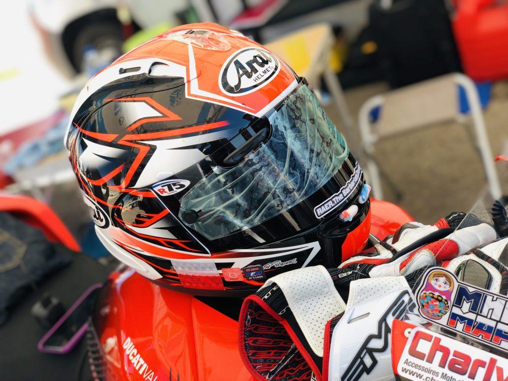 Mika Giron donne son avis sur le casque Arai