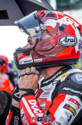 Essai du casque Arai RX7-V par Mika Giron