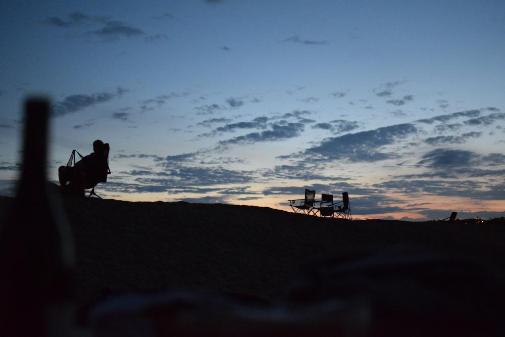 coucher de soleil sur Doheny Park, côte ouest USA