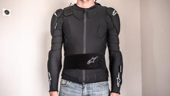 ceinture rénale sur le gilet de protection Alpinestars Bionic Pro V2