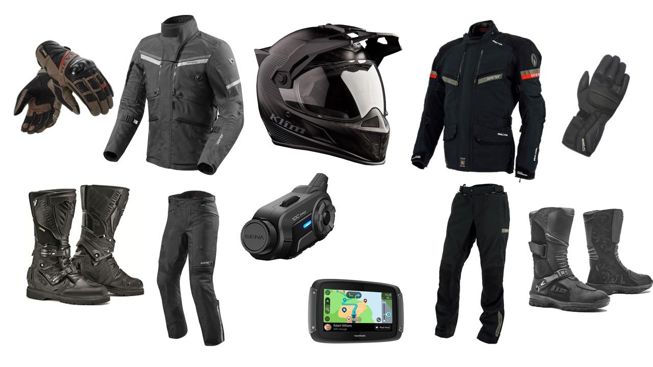wishlist d'équipements moto pour voyager, homme et femme
