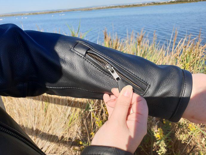poche sur le bras gauche du blouson DXR Jude CE