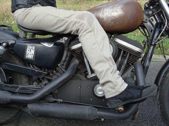 pantalon DXR Chino avec soufflets d'aisance... pour la moto