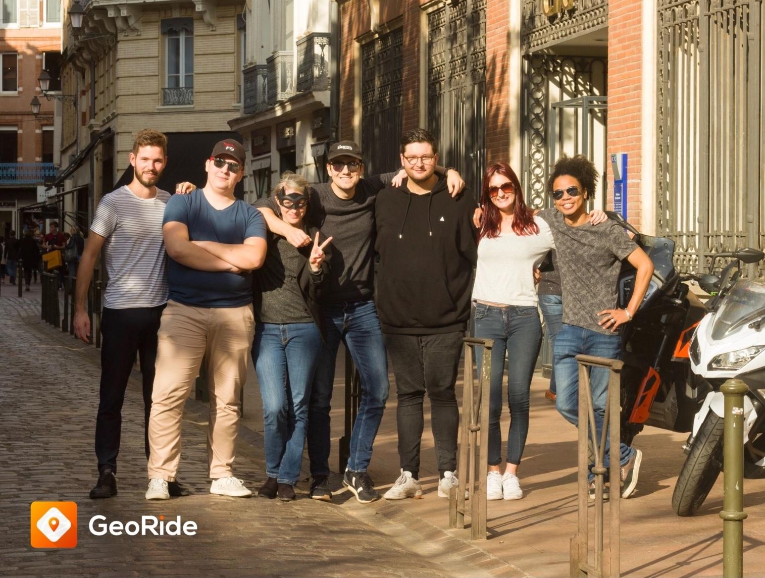 Equipe GeoRide, surtout des passionnés