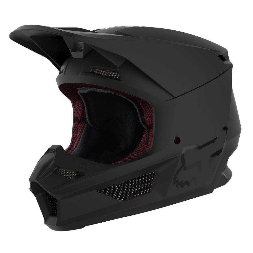casque cross Fox V1 - black matt