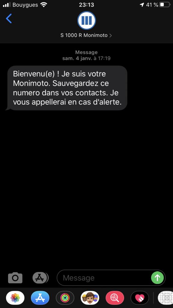 Tracker GPS Monimoto – Le sms de confirmation d'activation