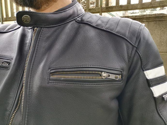 poche poitrine du blouson de cuir Segura Retro