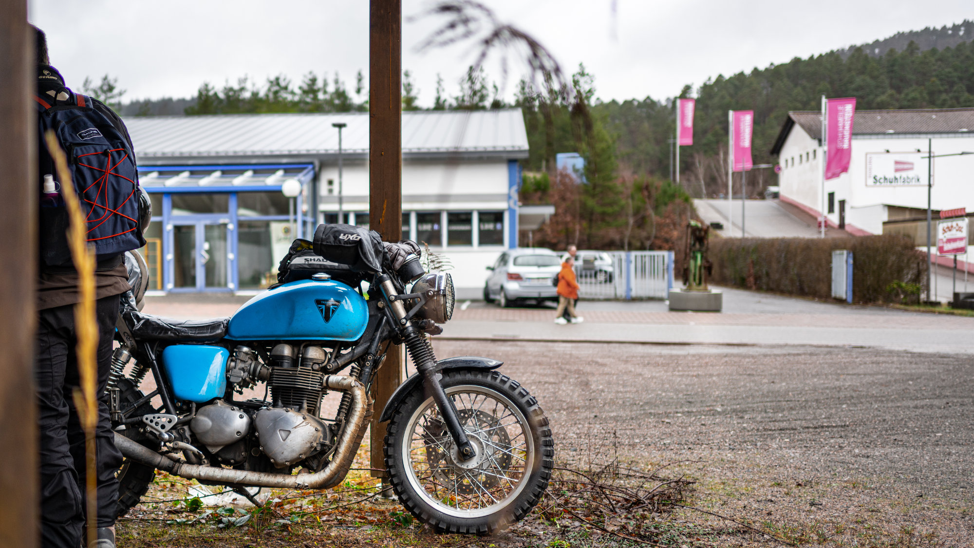 Moto garée