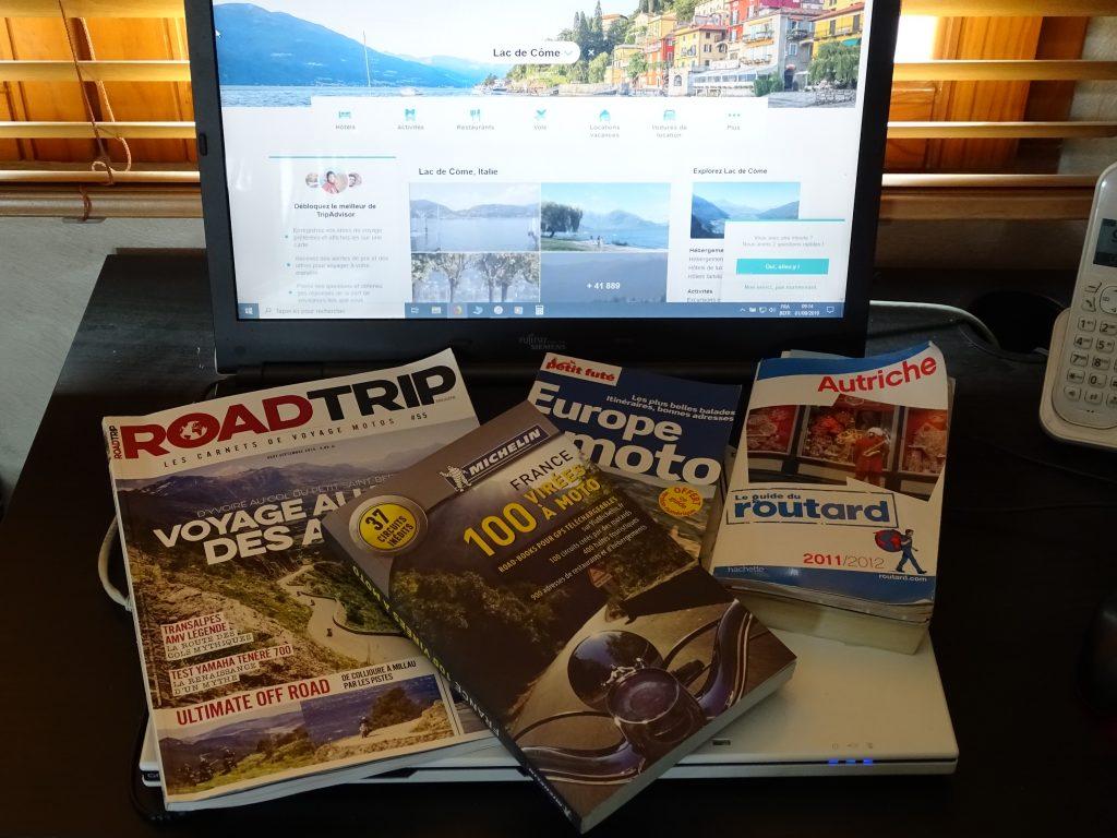 Internet, presse spécialisée, guides de voyages… tout est bon pour préparer son itinéraire