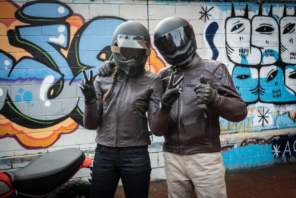 blousons moto en cuir à l'intersaison