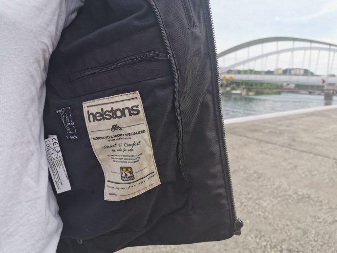 poches intérieures du blouson textile Helstons BENJI