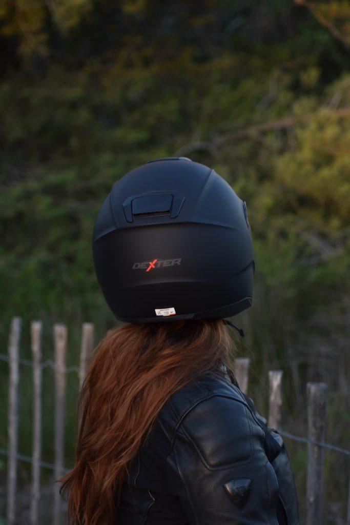 Arrière du casque Dexter Optimus avec logo