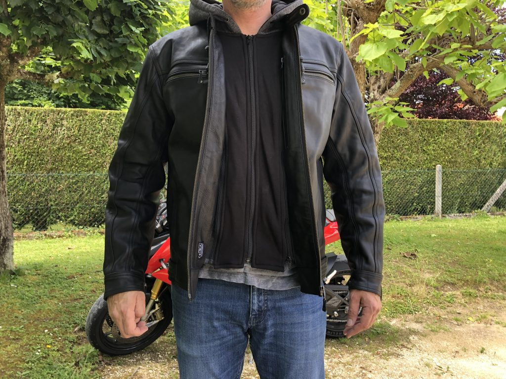 Blouson cuir DXR Zack – La fermeture de la capuche amovible style Hoodie