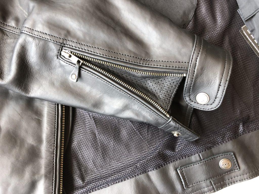 Blouson cuir DXR Zack – Les détails et finitions
