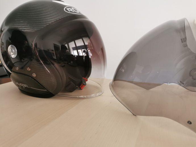 deux écrans pour le casque jet Roof Voyager