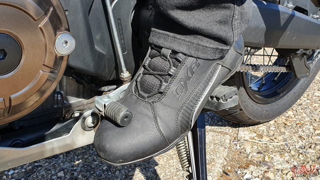 Après plusieurs centaines de kilomètres, aucune trace de sélecteur n'est apparue sur la chaussure.