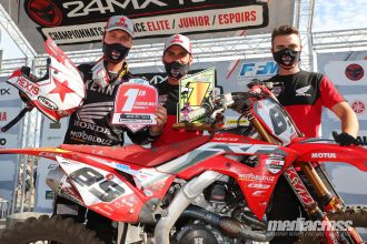 belle victoire pour la Team SR Motoblouz au Championnat de France Elite MX1 2020
