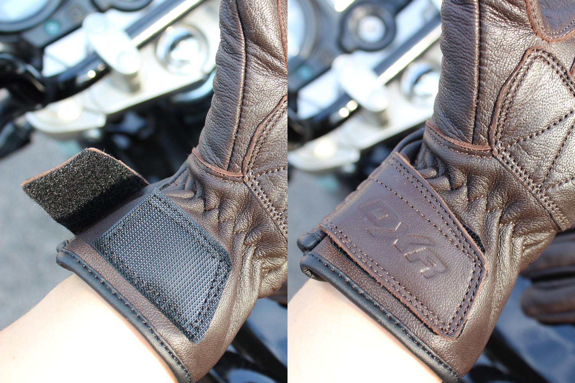 scratch pour fermer les gants DXR Lady Claymore