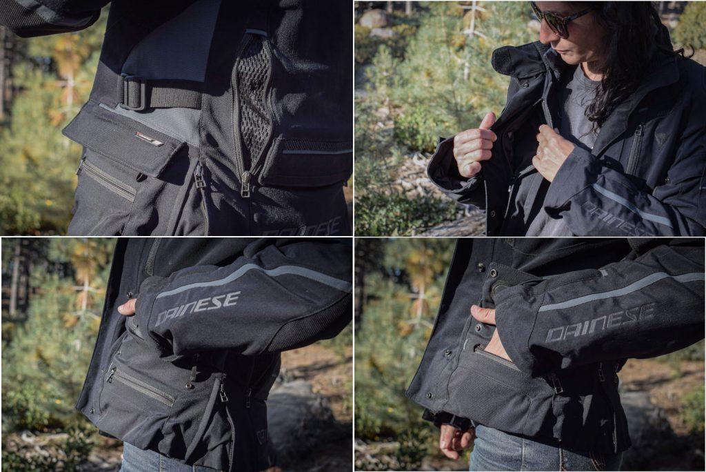 ensemble de mini poches pour la veste Dainese
