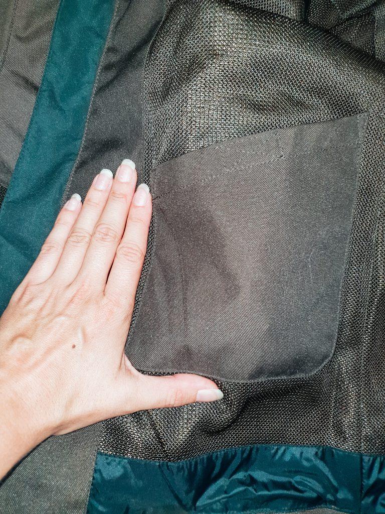 poches intérieures du blouson segura