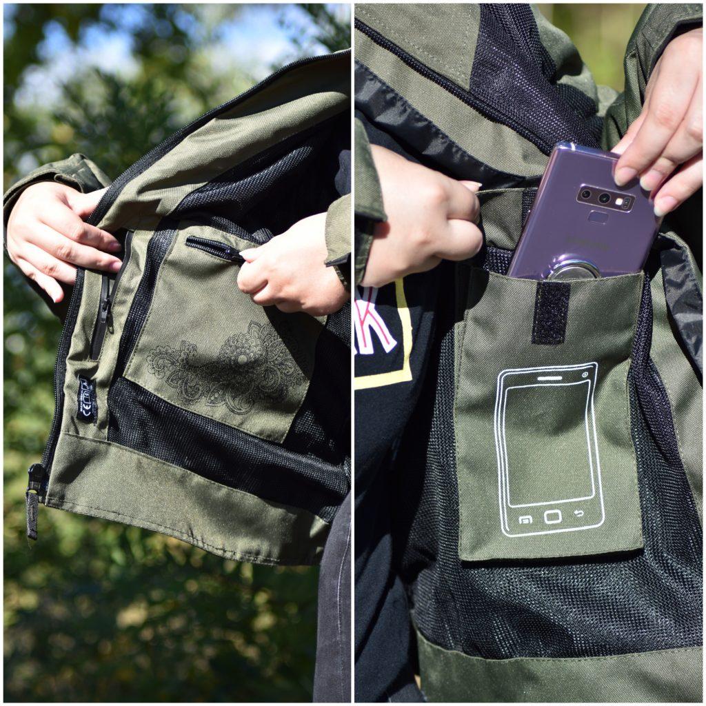 DXR R STREAM LADY CE : poches intérieures
