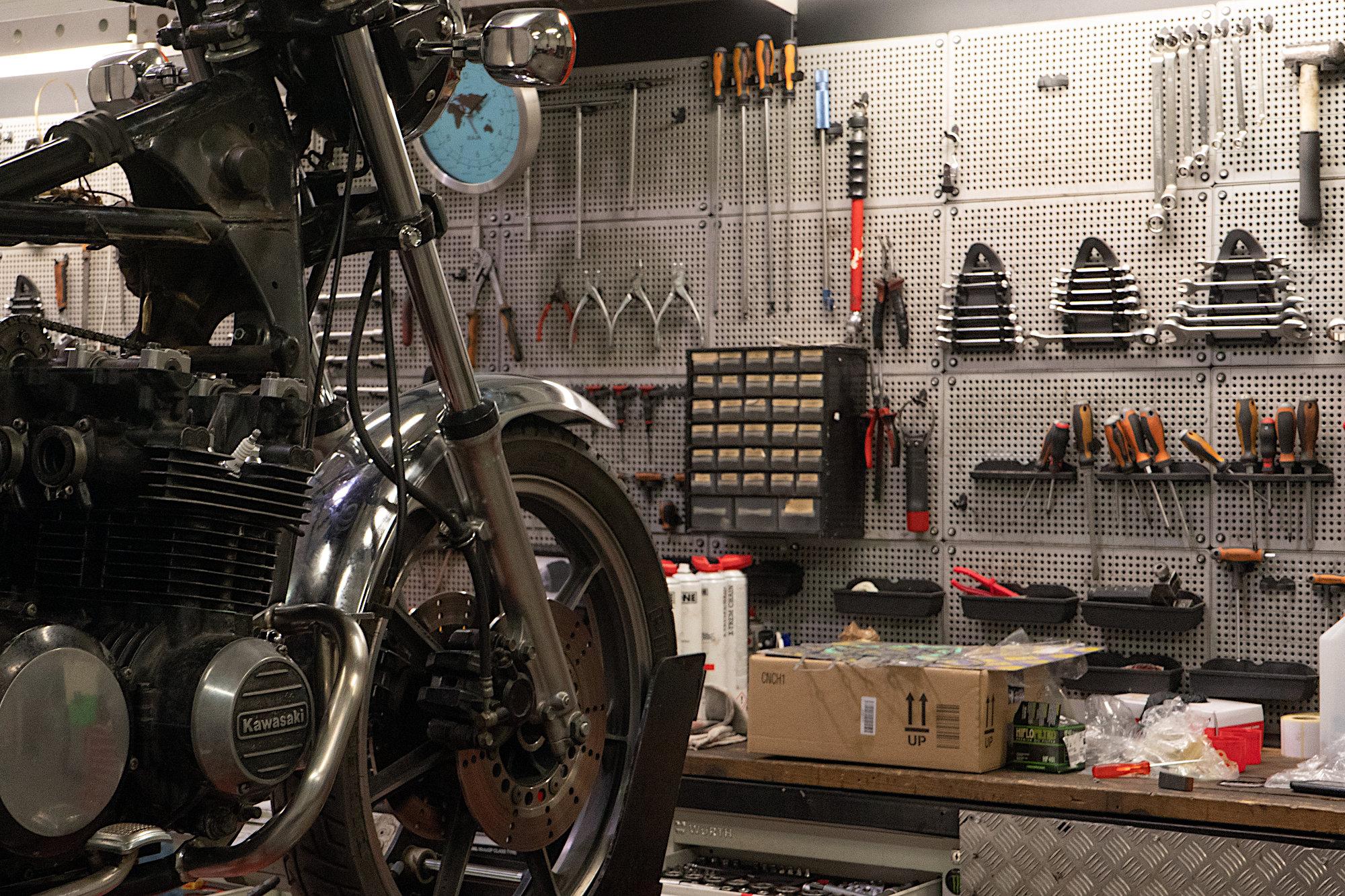 Atelier mécanique moto