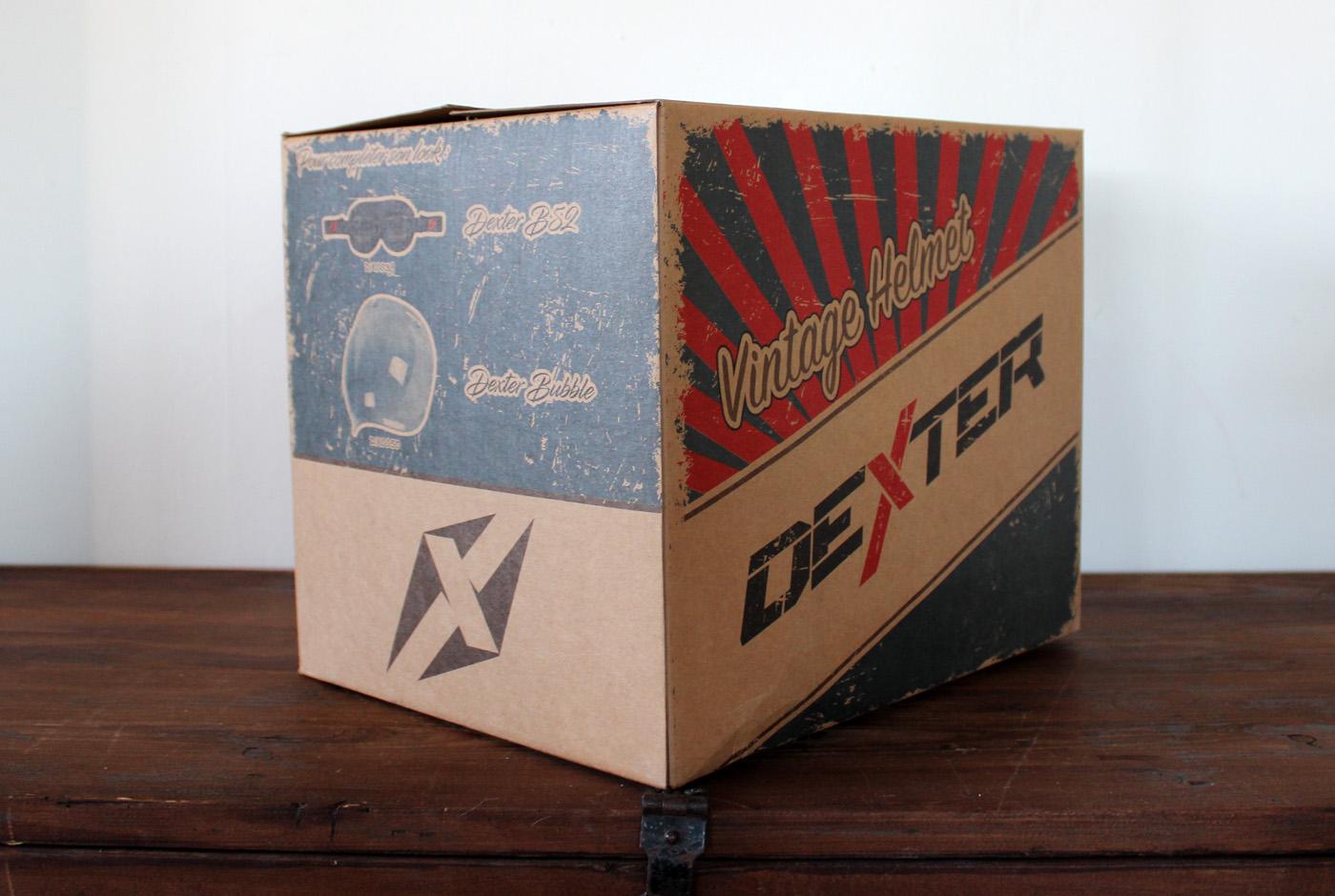 packaging du casque dexter