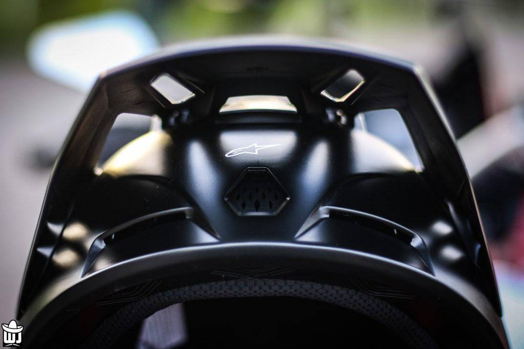 visières et aérations du casque Alpinestars Supertech SM5