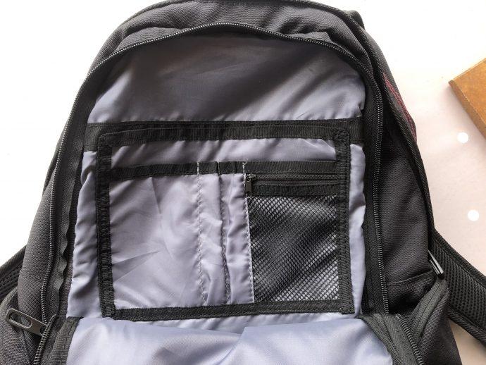 poches intérieures du sac à dos DXR Joe