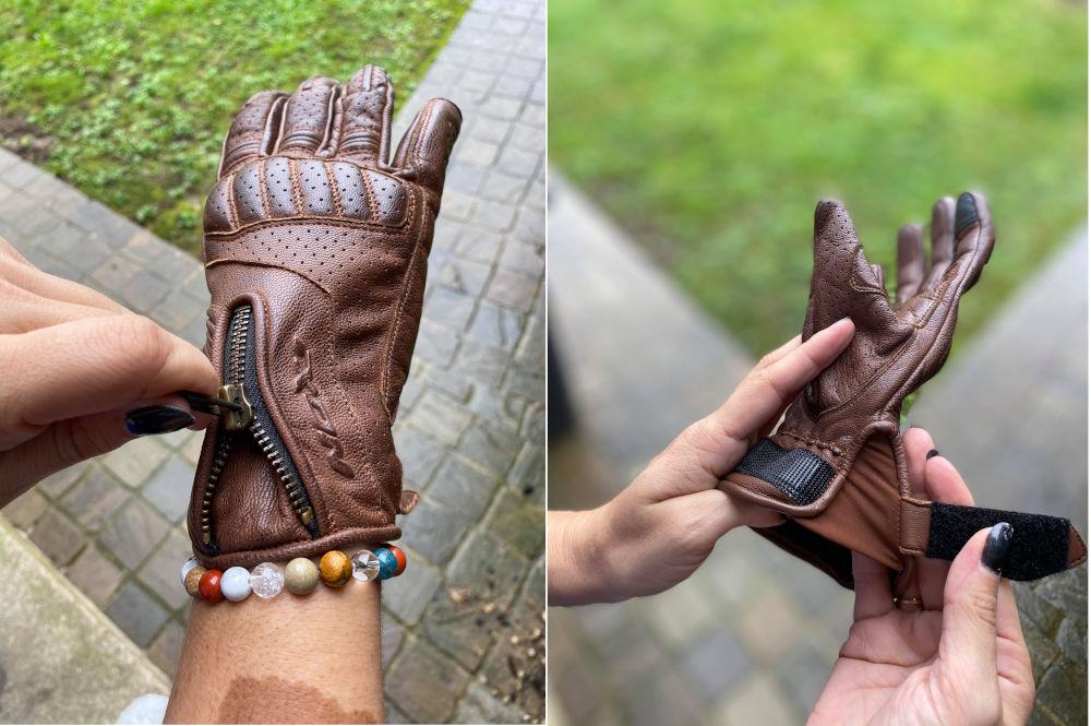 utilisation des gants Ixon Rocker Lady