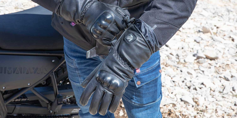 Des gants moto chauffants