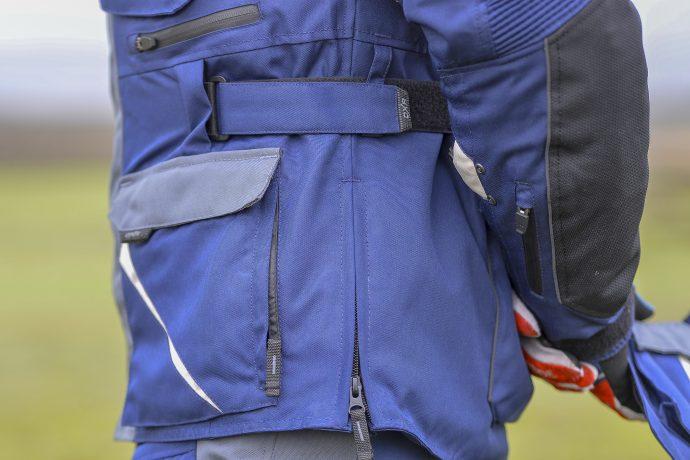 cremalleras y ajustes de la chaqueta DXR Capetown