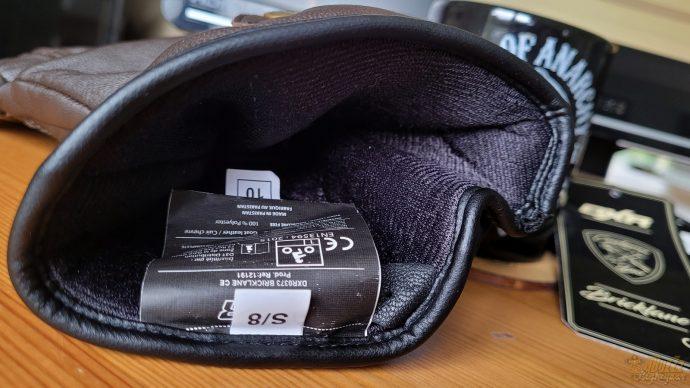 intérieur douillet pour les gants DXR Bricklane