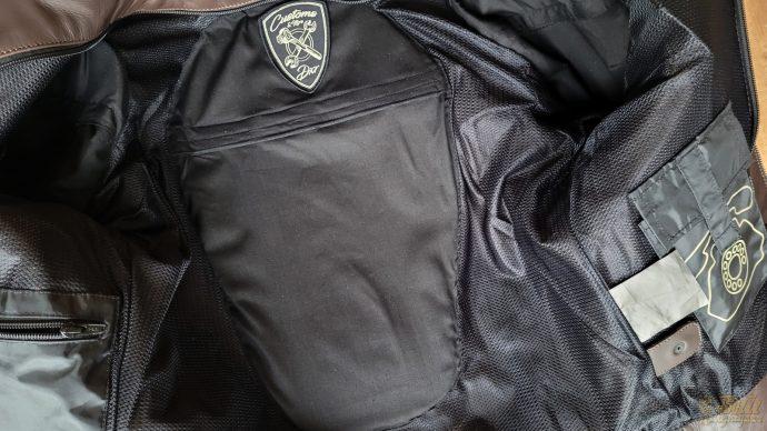 poche dorsale intégrée au blouson DXR Linus Rider