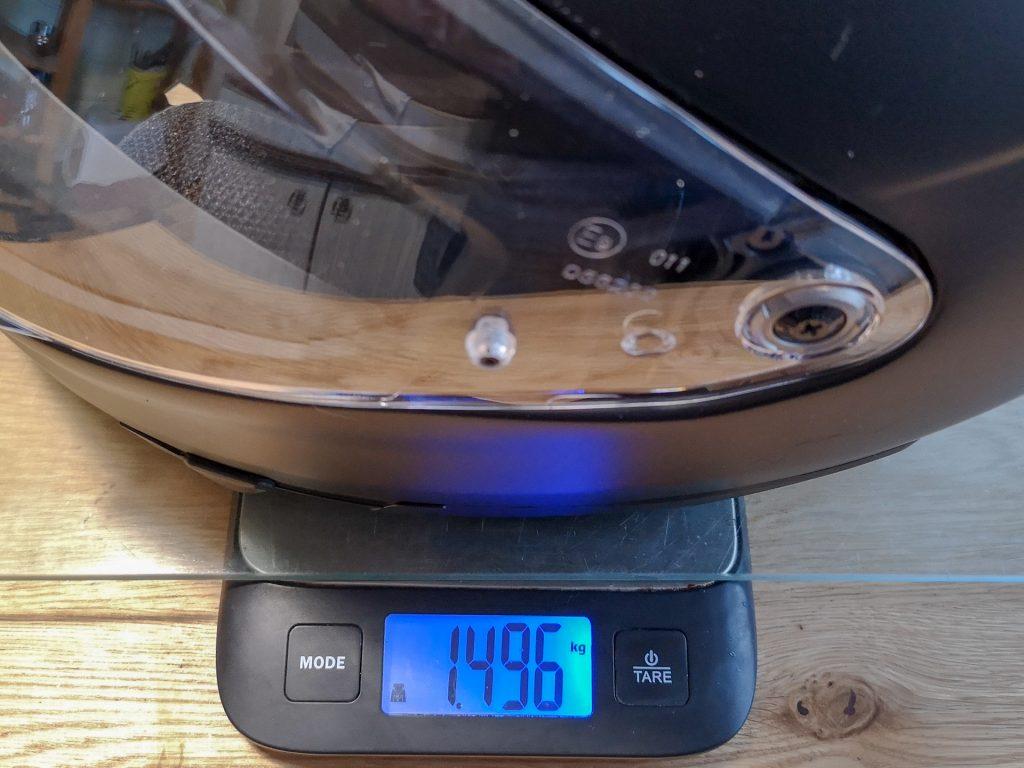 HJC F70 – poids