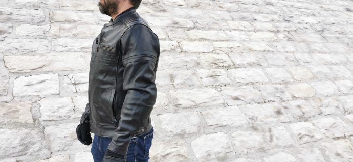 essai du blouson en cuir DXR Legend Full Black